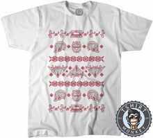 Load image into Gallery viewer, Merry A-Holes Ugly Sweater Christmas Tshirt Kids Youth Children 2854