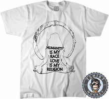 Load image into Gallery viewer, Humanity Is My Race Love Is My Religion Vintage Statement Tshirt Kids Youth Children 1333