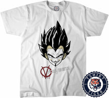 Load image into Gallery viewer, V for Vegeta TV Movie Inspired Mashup Shirt Tshirt Kids Youth Children 3152