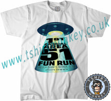 Load image into Gallery viewer, Area 51 Fun Run Meme T-Shirt Unisex Mens Kids Ladies - TeeTiger