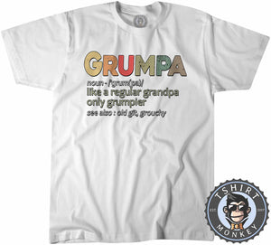 Grumpa - Funny Grandpa Vintage Graphic Tshirt Kids Youth Children 1156