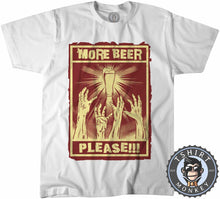 Load image into Gallery viewer, More Beer Please Funny Poster Drinking Statement Tshirt Kids Youth Children 1178