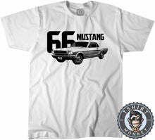Load image into Gallery viewer, American Muscle Car Mustang 66 Fastback Tshirt Mens Unisex 0004 - TeeTiger