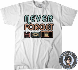 Never Forget Retro Classic Vintage Tshirt Kids Youth Children 1107