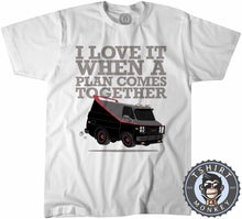 Load image into Gallery viewer, I Love It When The Plan Comes Together Tshirt Kids Youth Children 0147