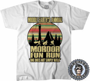 Annual Mordor Fun Run Movie Inspired Funny Vintage Tshirt Kids Youth Children 1100