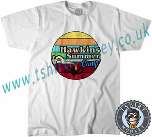 Hawkins Summers Camp Stranger Things T-Shirt Unisex Mens Kids Ladies - TeeTiger