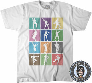 Dance and Emotes Halftone Pop Art Tshirt Kids Youth Children 0301