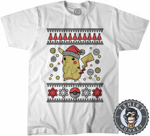 Load image into Gallery viewer, Pik-A-Chu  Inspired Ugly Sweater Christmas Tshirt Mens Unisex 1659