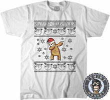 Load image into Gallery viewer, Slothy Chritsmas Ugly Sweater Christmas Tshirt Kids Youth Children 1662