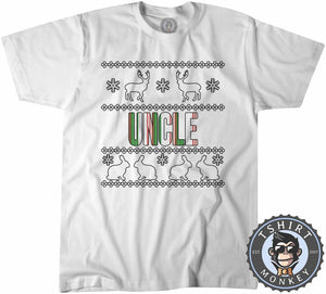Uncle Colored Ugly Sweater Christmas Tshirt Kids Youth Children 1675