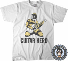 Load image into Gallery viewer, Rockstar Fireman Guitar Hero Rock and Roll Graphic Tshirt Mens Unisex 1060