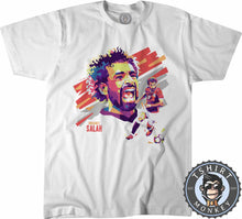 Load image into Gallery viewer, WPAP Inspired Pop Art - Mohamed Salah Tshirt Kids Youth Children 0355