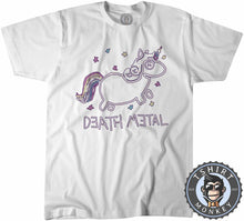 Load image into Gallery viewer, Death Metal Unicorn Music Inspired Graphic Tshirt Mens Unisex 1217