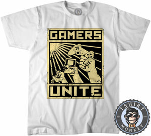 Gamers Unite - Vintage Gaming Graphic Tshirt Kids Youth Children 1210