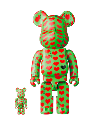 BE@RBRICK Green Heart 100% & 400% Set