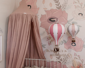 Organic Cotton Canopy - Dusty Pink - littledreamersinteriors