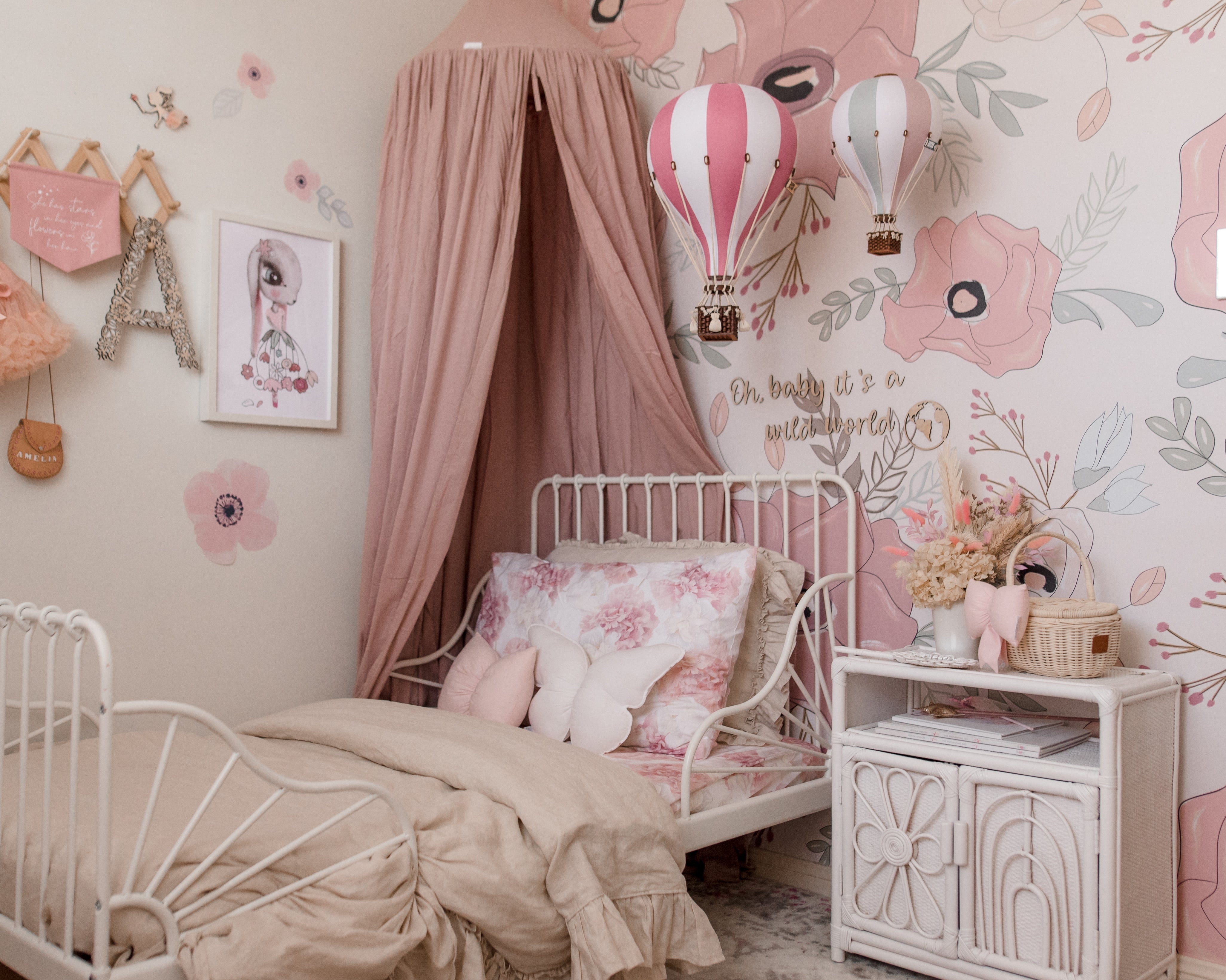 Organic Cotton Canopy - Dusty Pink - littledreamer.interiors