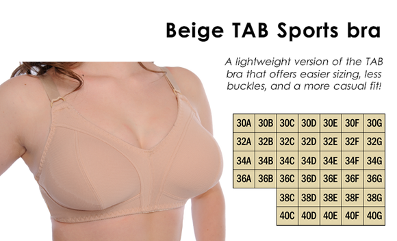 TAB (The Amazing Bra) - Sport, BEIGE