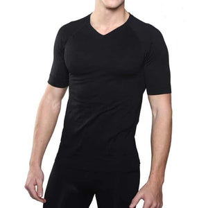 FIRMA ENERGYWEAR V-NECK TEE (MEN'S) - Black, and White - Small to 2X