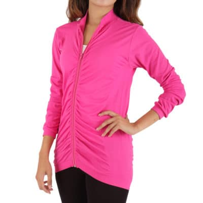 WOMEN'S RUCHED ZIP JACKET