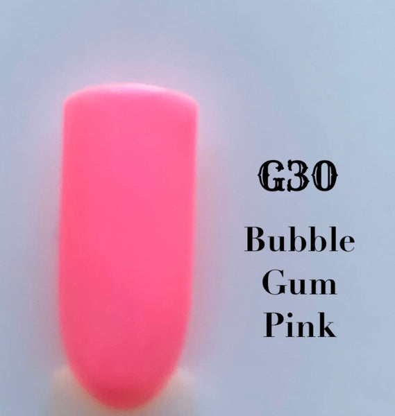 UV Gel Polish-Bubble Gum Pink G30