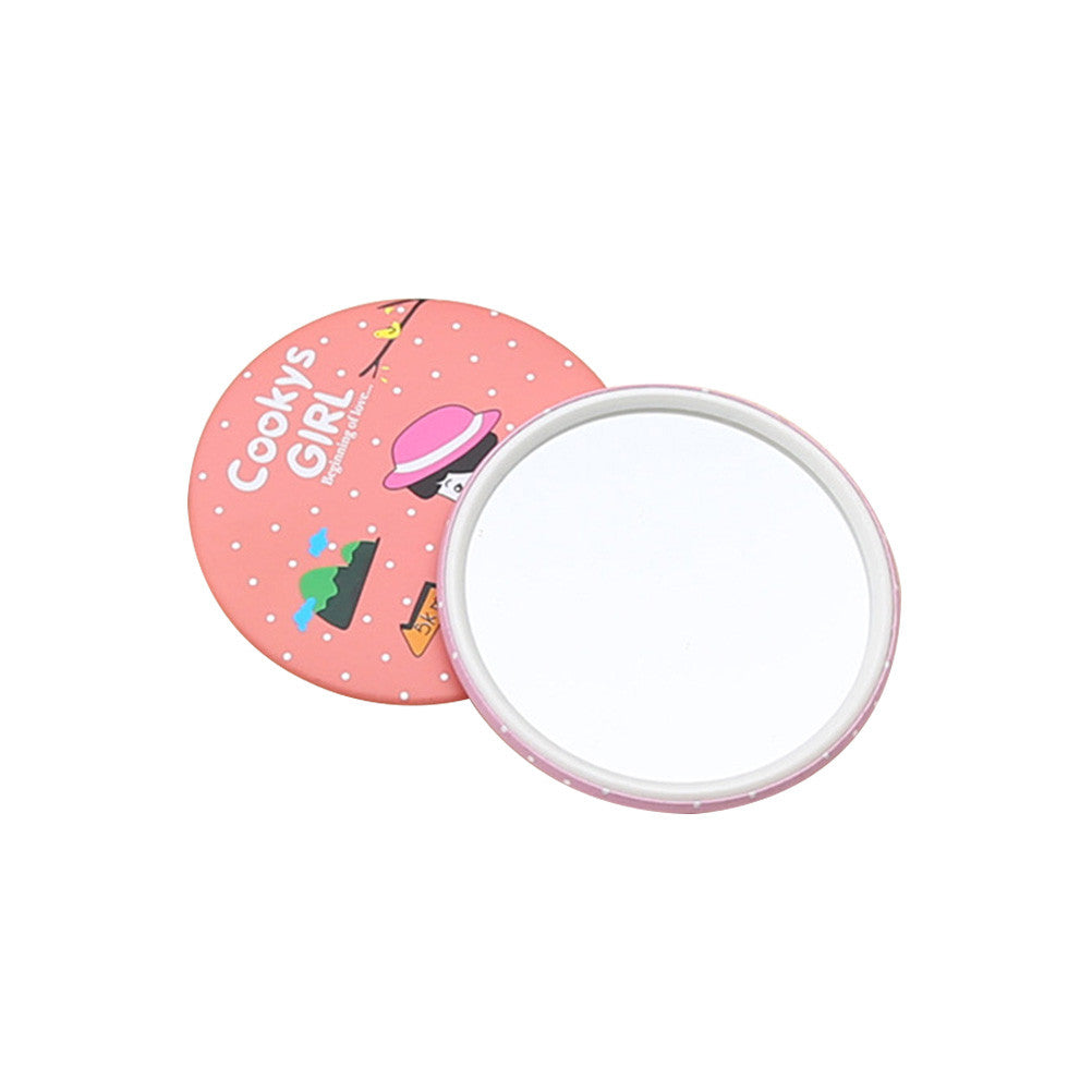 Mini Pocket Compact Portable Mirror Round Mirror Looking Glass Makeup Tools
