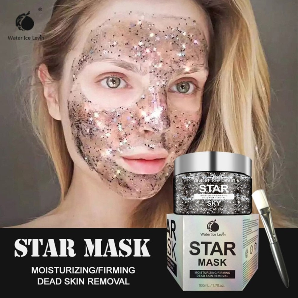 STAR MASK Glitter Gold Peel off Black Face Mask From Black Dots Blackhead Remover Korean Facial Face Masks Skin Care