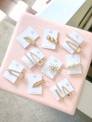 Gold and Pearl 3 Piece Hair Pin Set