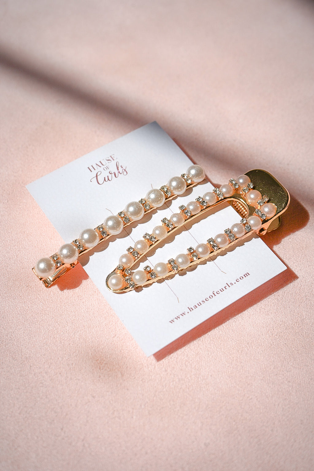 Gold Pearl 2 Piece Hair Pin Set