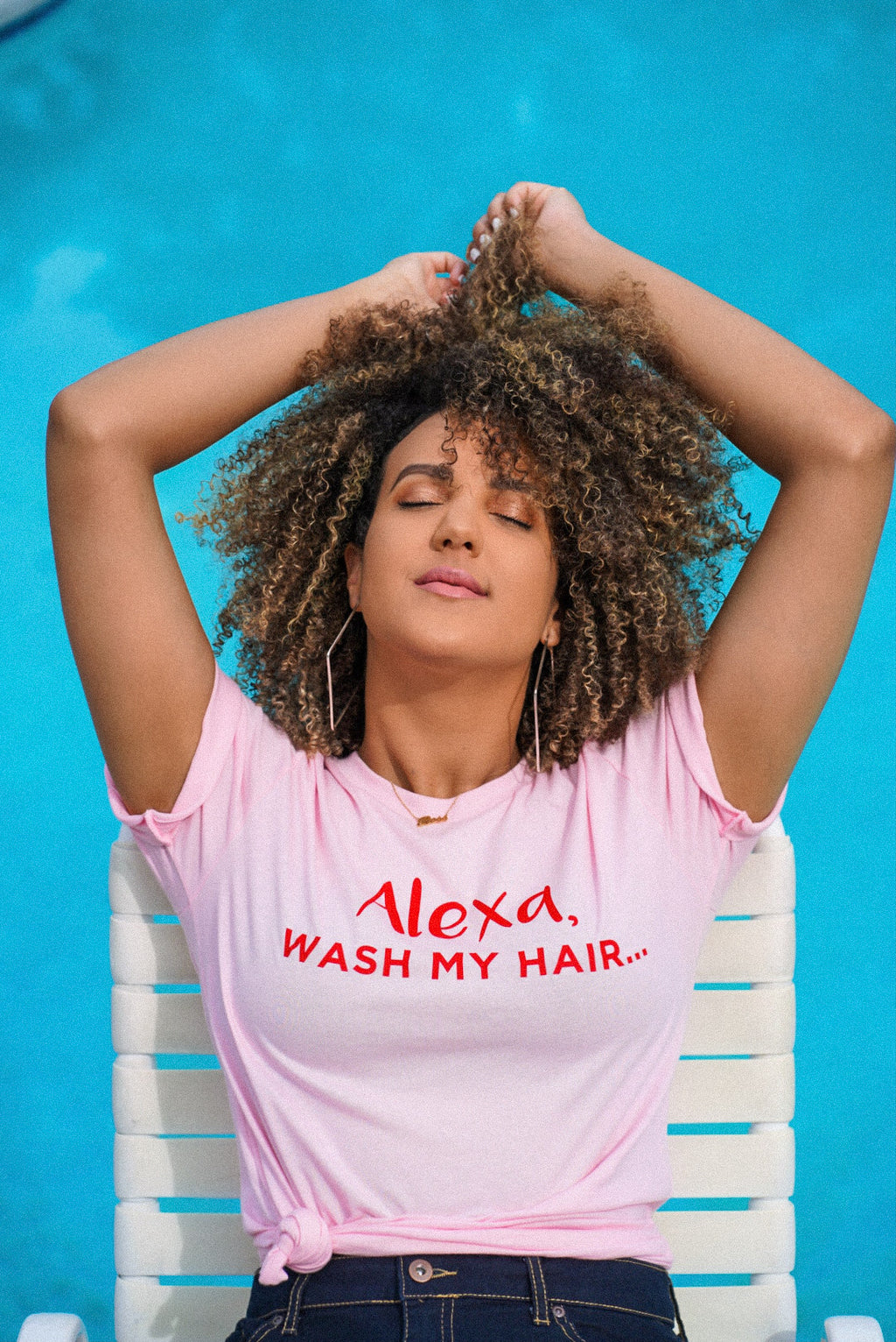 """Alexa, Wash My Hair"" T-shirt"