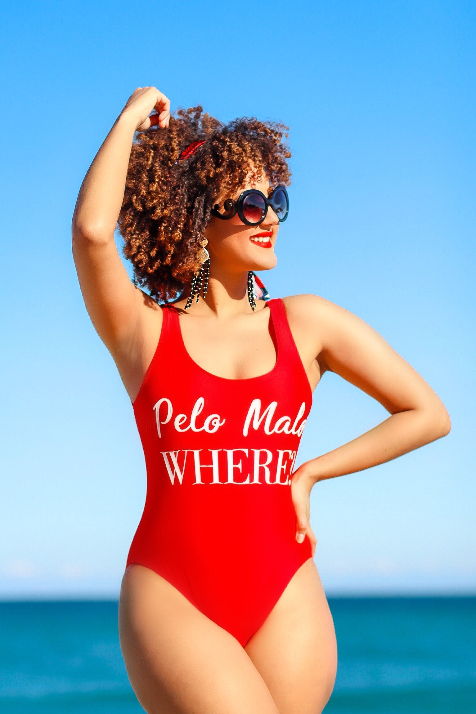 """Pelo Malo Where?"" One Piece Swimsuit"