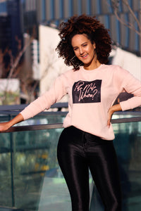 Peach Neon Sign Sweater