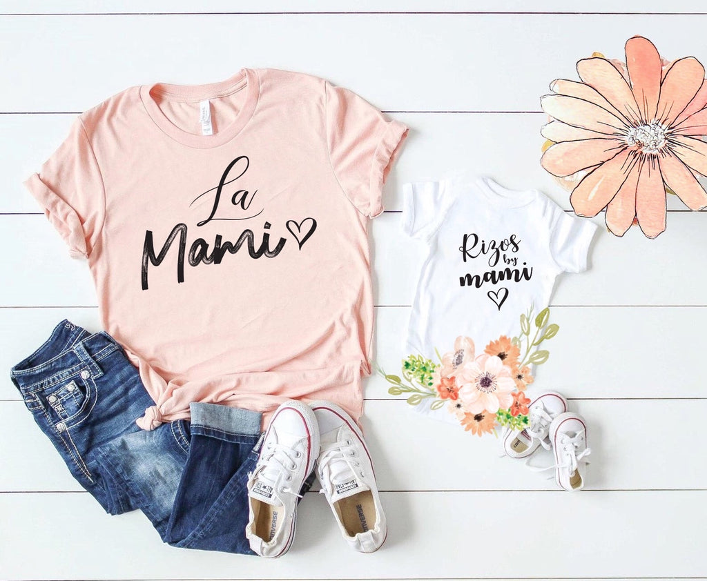 La Mami & Rizos by Mami Mother/Daughter/Son Unisex T-shirt