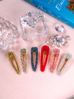 Enchanting Illusion Tin Foil Hair Pins 2 Piece Set- Red