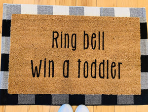 Ring bell win a toddler