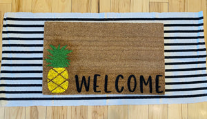Welcome + pineapple