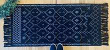 Load image into Gallery viewer, Black boho - runner rug 24x60