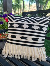 Load image into Gallery viewer, Black Aztec pillow