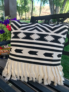 Black Aztec pillow
