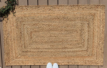 Load image into Gallery viewer, Thick braided rectangle jute - 36x60