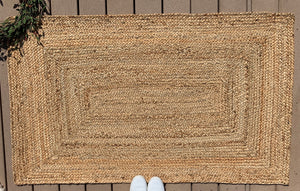 Thick braided rectangle jute - 36x60