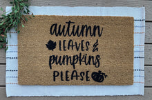 Load image into Gallery viewer, Autumn leaves & pumpkin please