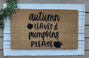Autumn leaves & pumpkin please