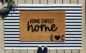 Home sweet home + initials