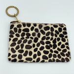 Giraffe Printed Leather Pouch