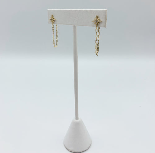 The Ari Starburst Drop Chain Earring