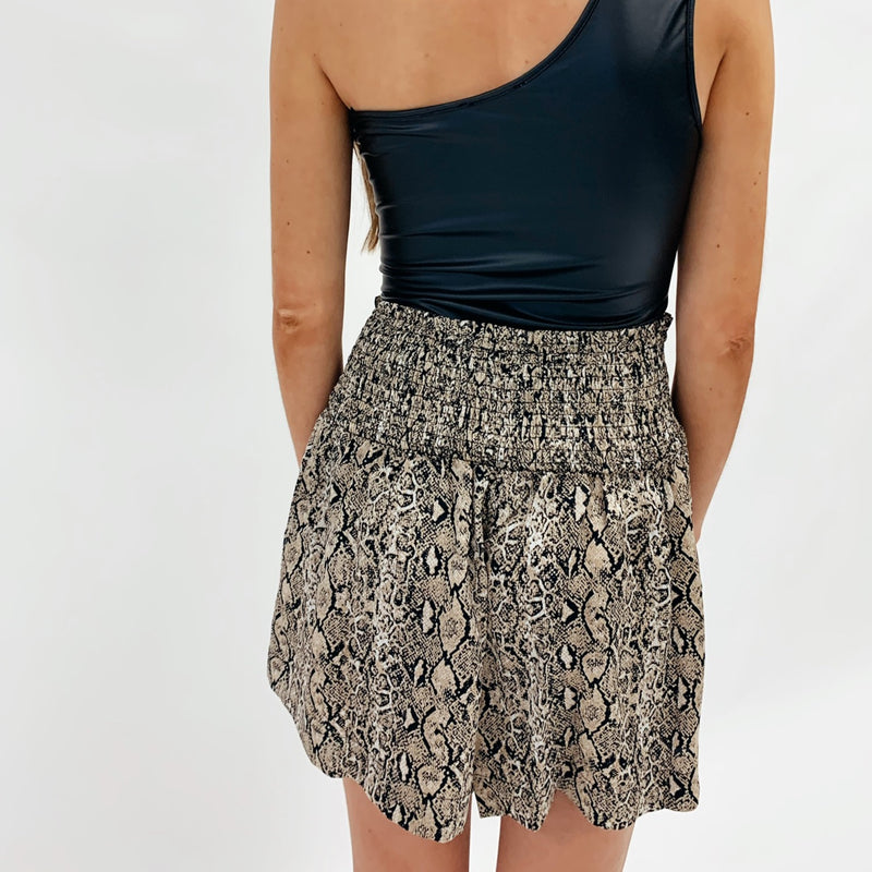 Adair Snakeprint Shorts