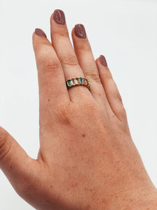 Gold Plated Rainbow Ring