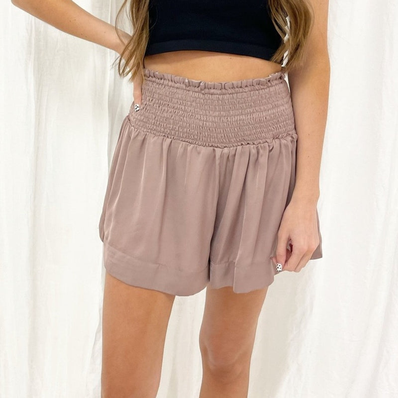 Adair Smocked Shorts (Multiple Colors)